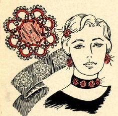5502 Vintage Tatting PATTERN for Glamorous Jewelry by BlondiesSpot, $1.99