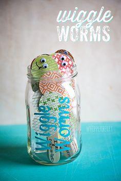 jar crafts, wiggl worm, church, hard times, jar labels