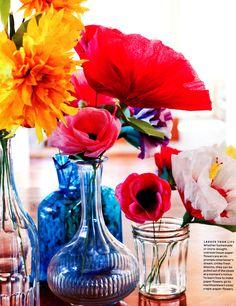 Oversize tissue paper flowers from marthastewart.com