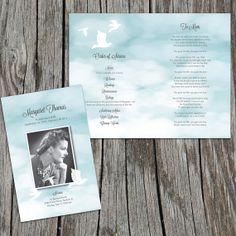Another heavenly design by Fox Digital Design Memorial/Funeral Program Order of by FoxDigitalDesign, $30.00
