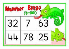 Numbers 0-100 bingo (SB6139) - SparkleBox