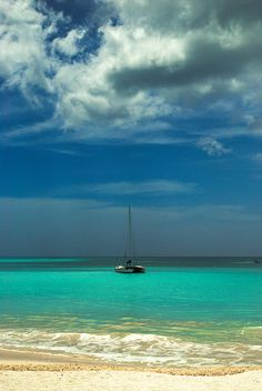 Sailboat Sail Boats Beach Palm Tree Caribbean Vacation Destination Tropical Travel Antigua St. Martin St Kitts St. Lucia Grenada Barbados Amazing Getting Away from it All by Matt Anderson Photography, via Flickr