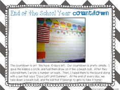 Beach Ball-themed End of the School Year Countdown