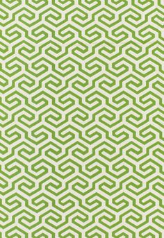 Fabric | Ming Fret in Grass | Schumacher