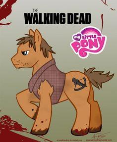 Daryl Dixon My Little Pony // The Walking Dead