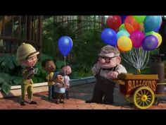 """Up - Married Life Montage - Carl & Ellie  """"My most favorite, most beautiful scene from a Pixar movie""""  Makes me cry every time ♥"""
