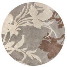 Handmade Alexa Pino Emblem Beige Floral Rug (6' Round) overstock $129.99