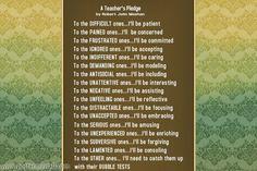 What teachers can be...: A Teacher's Pledge