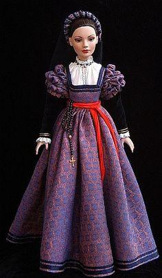 "italian renaissance dress for 18"" doll"