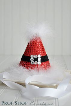 santa birthday hat