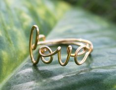 Gold Wire Love Ring