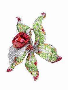 Cartier Orchid Brooch