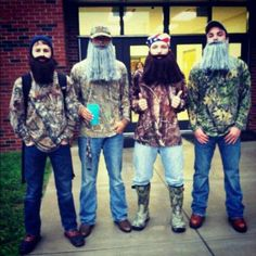 Gonna suggest Duck Dynasty costumes for the upcoming halloween season.