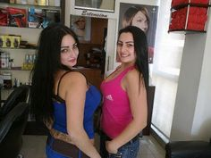 Two Beautiful Lebanon Girls In Beauty Saloon