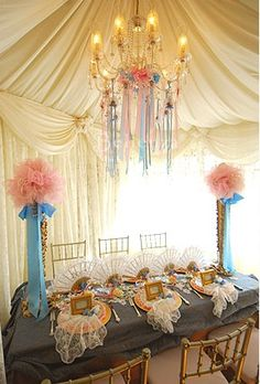 pretty for a marie anotinette themed bridal shower