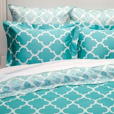 Mimosa Reversible Bedding - Aquamarine from Z Gallerie
