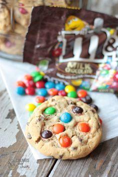 M & M Chocolate Chip Cookies