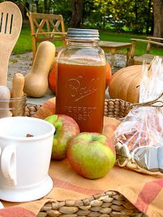 Apple Cider at a Pumpkin Carving Party on your Front Porch