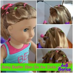 Easy Easter Hair-Do for Dolls