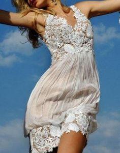 lacey bubble dress