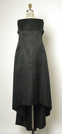 Balenciaga Evening Dress - c. 1962 - House of Balenciaga (French, founded 1937) - Design by Christobal Balenciaga (Spanish, 1895-1972) - Silk - @~ Watsonette