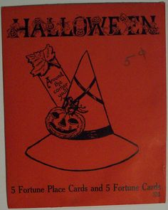 Vintage Halloween Place Cards By  Beistle  by riptheskull, via Flickr