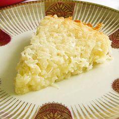 Self-Crust Coconut Pie