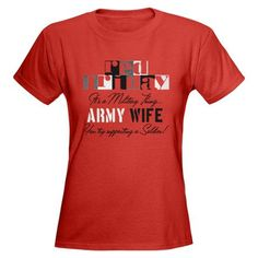 Army Wife Red Friday Women's Dark T-Shirt