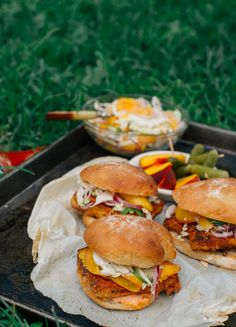 Tofu Sliders with Spicy Peach Slaw
