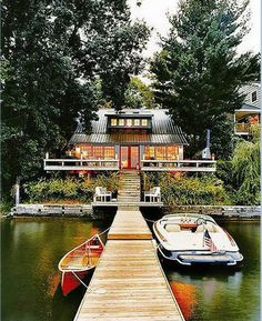 Now this is what a dream lake house looks like!
