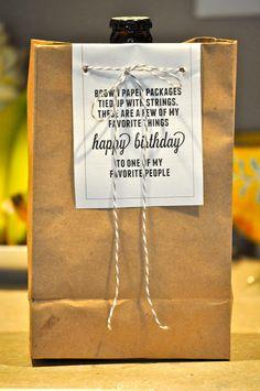 birthday gift idea: favorite things