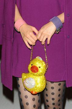 Love this! Judith Leiber Duck bag