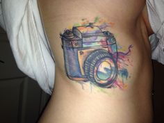 My watercolor camera tattoo :)