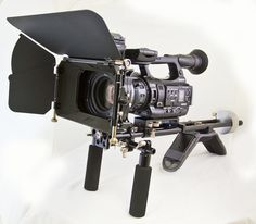 Genustech shoulder rig and matte box with Sony PMW-200 camera