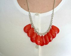 DIY statement necklace.... teardrop crystals and nail polish