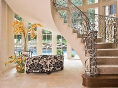 """Love the """"free standing"""" Spiral Staircase"""