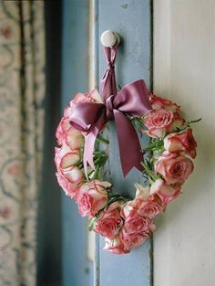 Shabby Chic rose wreath, flower arrang, heart, valentin rose, roses, ana rosa, baskets, wreaths, beauti rose