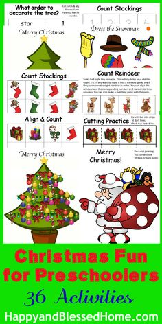 #christmas Printables for #Preschoolers