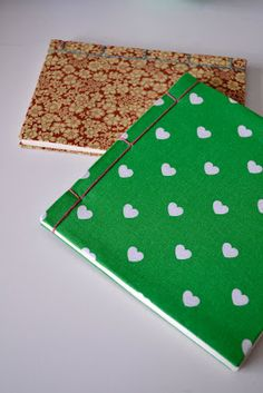 photo tutorial on how to make notebooks by Karin/Brodösens
