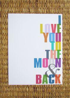 To the Moon & Back Print. $15.00, via Etsy.