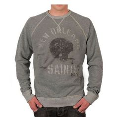 Show off your team in a timeless style with the New Orleans Saints Vintage Raglan Sweatshirt by Junk Food. You'll appreciate the unique style of this sweatshirt with its distressed screenprint with a spray painted look of your team's helmet, logo and team. This sweatshirt is sure to keep you looking good while keeping you warm while you cheer on the New Orleans Saints