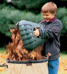 Someday, I will fool my kid into doing yardwork with these bear claw leaf scoops. $15
