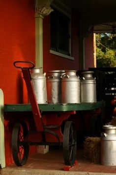 Old Milk Cans  by chevy04, via Flickr