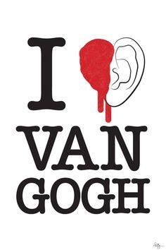 I love Van Gogh Art Print