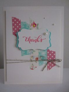 Thank You Card Handmade Greeting Card Paper by HawaiiPaperParty, $5.00