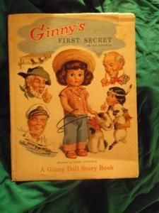 Ginny's First Secret  by Lee Kingman  I always thought this little girl/doll in the book looked like Little Debbie, from the snack cakes.