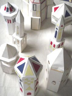 28 paper castles - what a lovely collection.