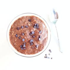 Almond Milk Chocolate Sunbutter Pudding. A lovely thick almond milk pudding with added sunflower seed butter, but you could use almond or PB. We suggest using Unsweetened Vanilla Almond Breeze for this healthy dessert recipe. #almondmilk #almondbreeze