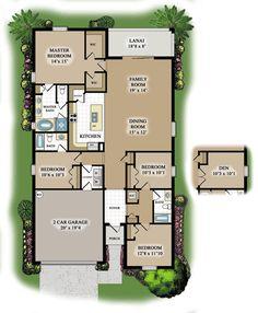 Trevi floor plan with bedroom or den!