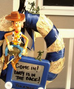 Toy Story Party welcome, I'll use Jessie instead